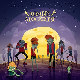 Zombie apocalypse background