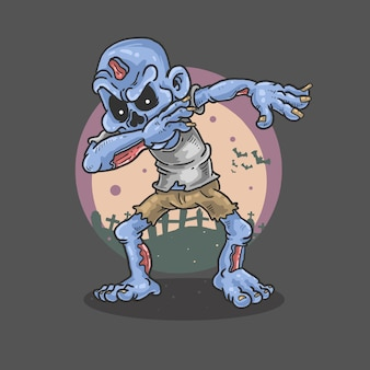 Zombie danza illustrazione horror