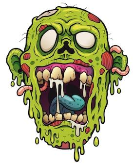 Zombie face cartoon