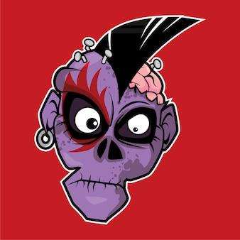 Zombie head - punk rock
