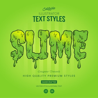 Zombie slime text style