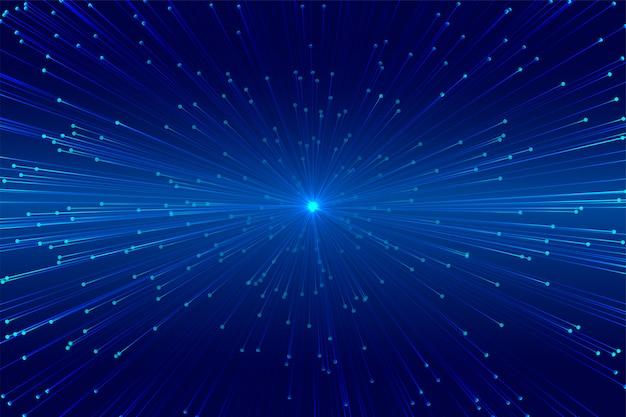 Zoom digitale che scoppia design della tecnologia delle linee