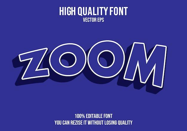 Zoom testo modificabile effetto