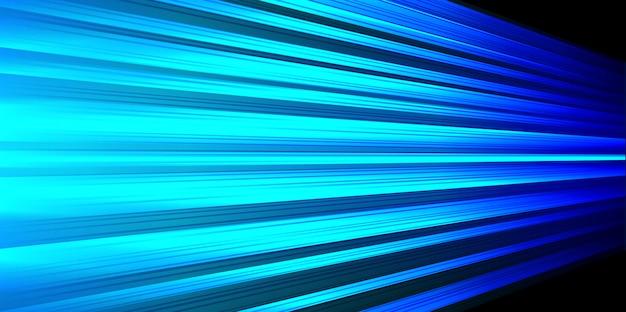 Zoom veloce della linea elettrica della luce blu zoom su sfondo nero.