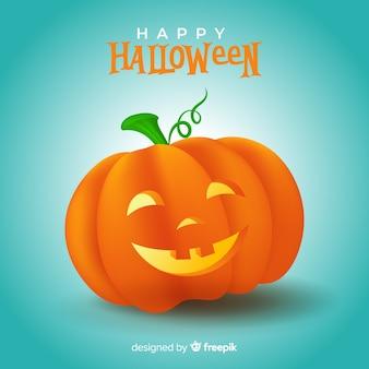 Zucca di halloween carina realistica