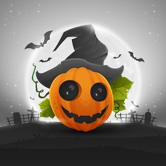 Zucca di halloween carino