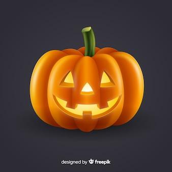 Zucca di halloween isolata brillante