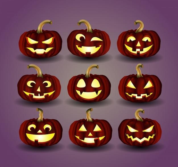 Zucca di halloween per la decorazione