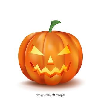 Zucca di halloween realistica