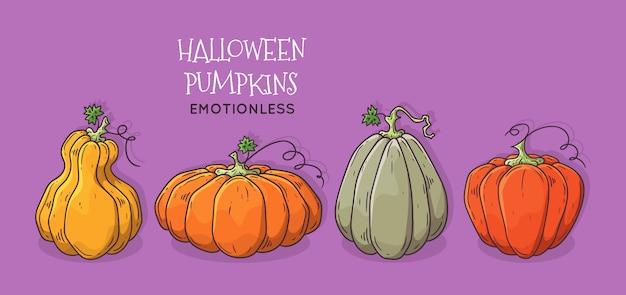 Zucca di halloween realistica.