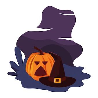 Zucca felice festa di halloween