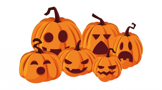 Zucche felice festa di halloween