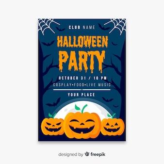 Zucche felici per modello di poster di halloween