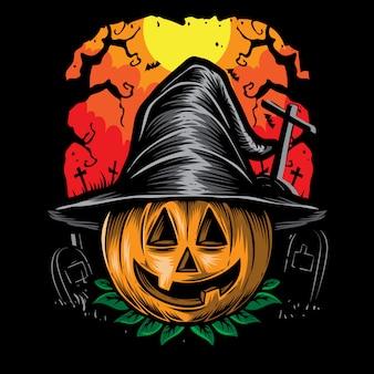 Zucche spaventose halloween vettoriale