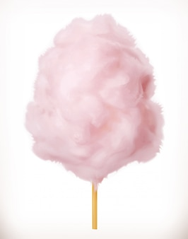 Zucchero filato. nuvole di zucchero. 3d. illustrazione realistica