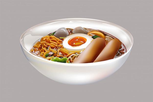 Zuppa di spaghetti in tailandese