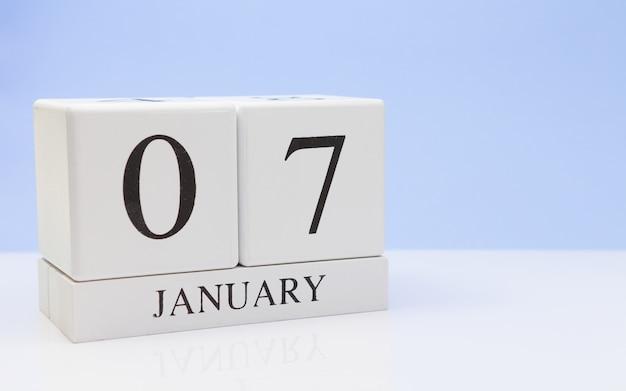 07 januari. dag 07 van de maand