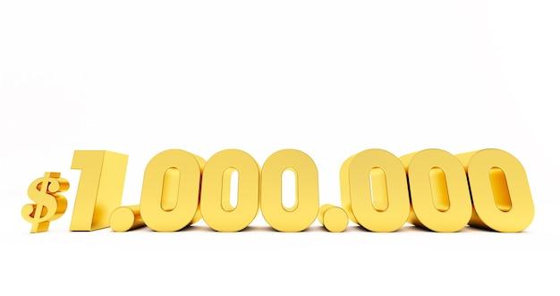 1.000.000 $ un miljoen dollar. 1000000 $
