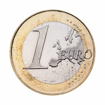 1 euromunt, europese unie geïsoleerd over white