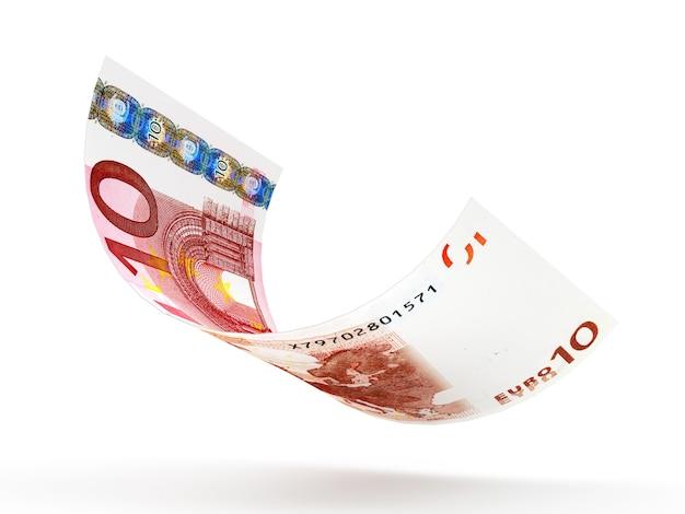 10 euro-bankbiljet gekruld