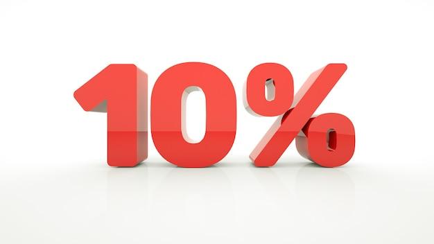 10 procent korting op kortingspromotie 3d illustratie van kerstuitverkoop black friday wereldwijd winkelen