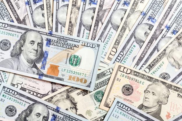 100 dollarrekening op dollarbankbiljetten