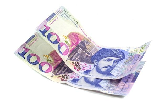 100 georgische lari-bankbiljetten