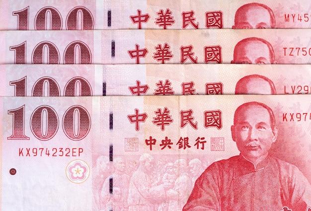 100 nieuw bankbiljet van taiwanese dollar