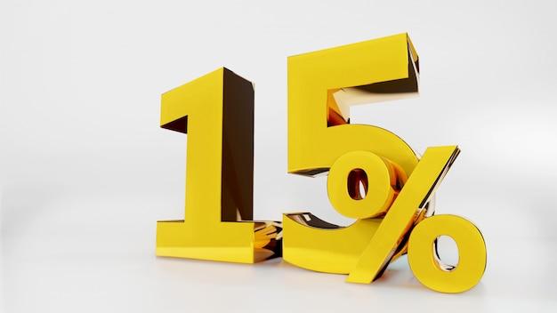 15% gouden symbool