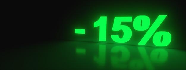 15 korting verkooppromotie van neon