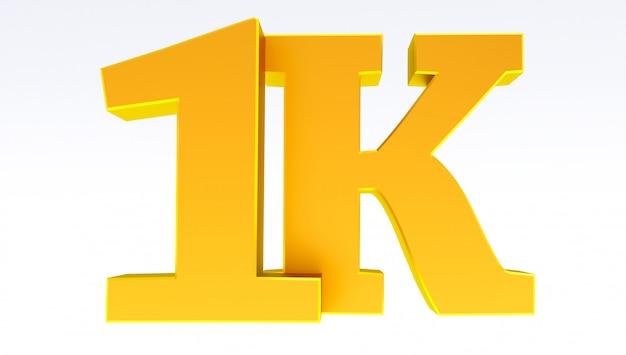 1k of 1000 volgers bedankt.