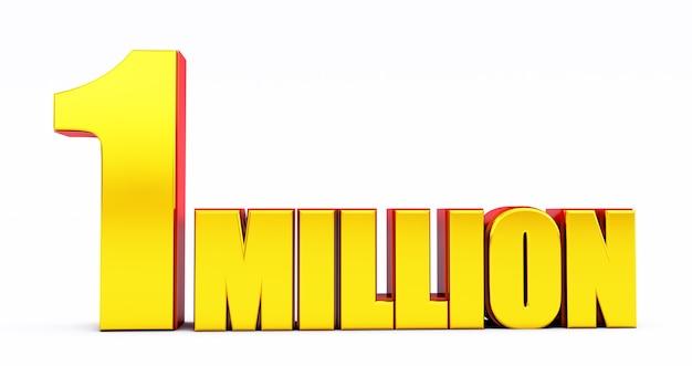 1m, 1 miljoen viering of volgeling