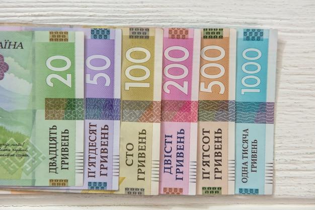 20 50 100 200 500 1000 nieuw bankbiljet. oekraïne geld. uah