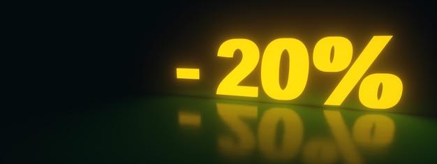 20 korting verkooppromotie van neon