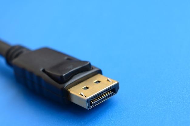 20-pins mannelijke displayport-vergulde connector voor een vlekkeloze verbinding op een blauwe achtergrond