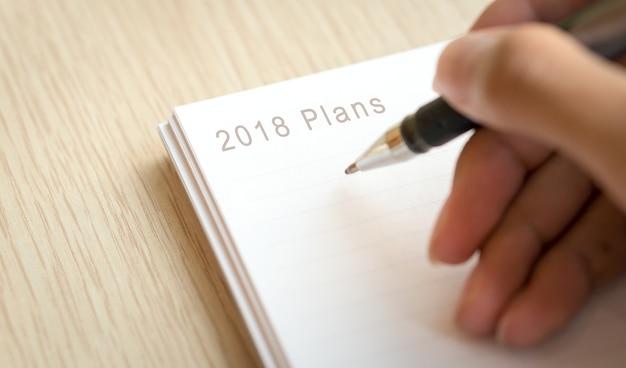 2018 plannen voor het starten van een betere levensverbetering
