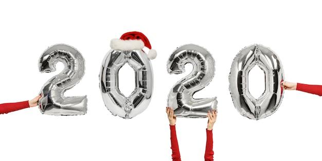 2020 aantal glanzende ballonnen