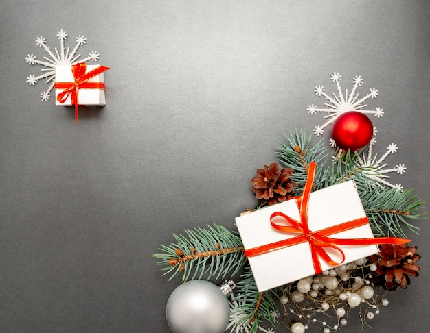 2020 gelukkig nieuwjaar, merry christmas decoraties flatlay
