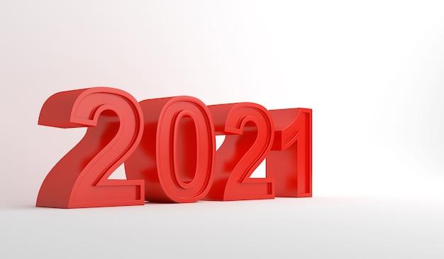 2021 3d-tekst gelukkig nieuwjaar decoratie