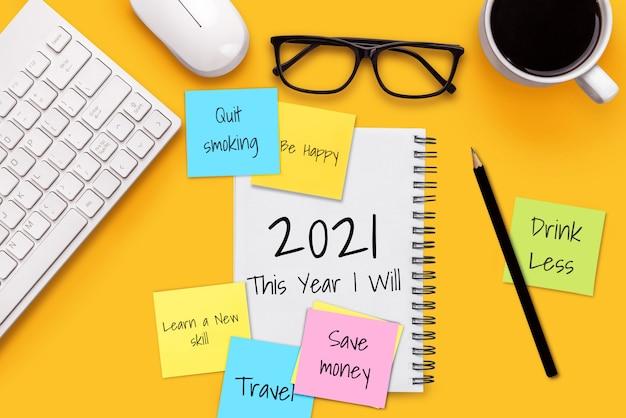 2021 gelukkig nieuwjaar resolutie doelenlijst
