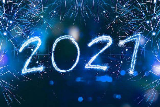2021 geschreven schittert met een heldere. gelukkig nieuwjaar 2021