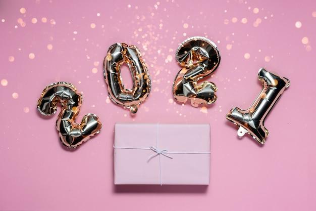 2021 gouden folie ballonnen nummers en cadeau