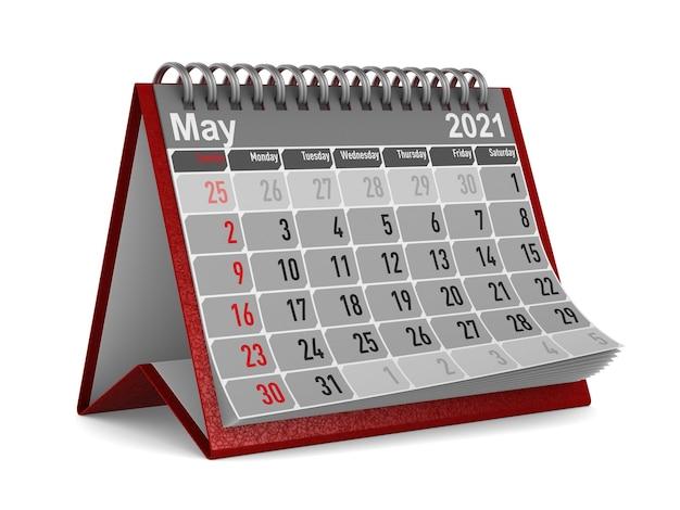2021 jaar. kalender voor mei.