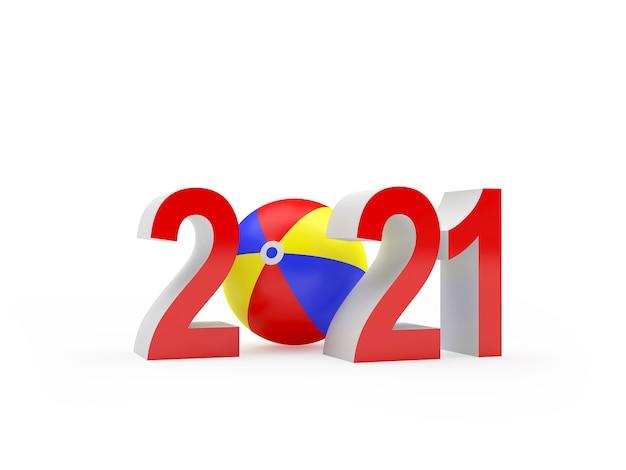 2021 nummers met strandbal