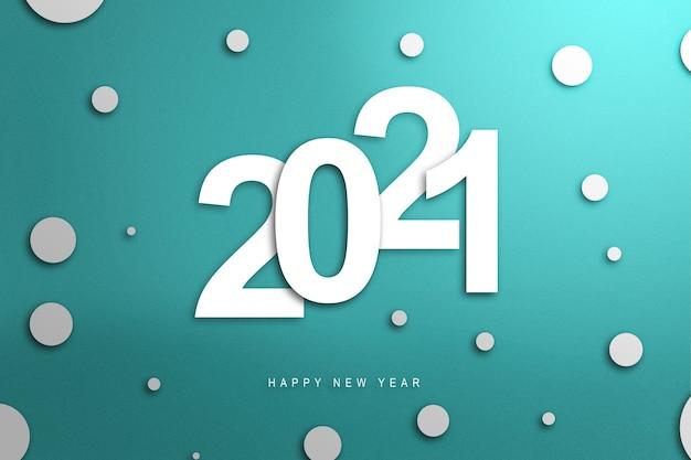 2021 op een gekleurde achtergrond. gelukkig nieuwjaar 2021