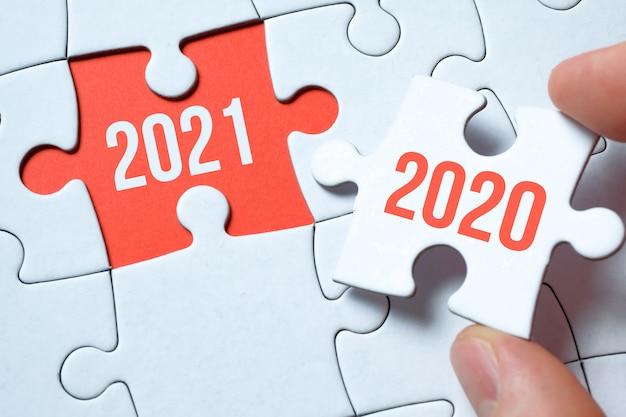2021 ter plaatse vanaf de puzzel.