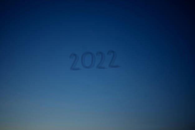 2022 nieuwjaar op abstracte achtergrond