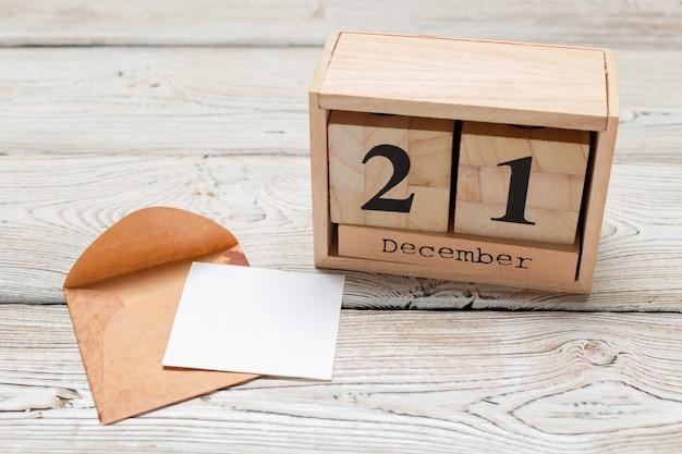 21 december. dag 21 van decembermaand, kalender. winter tijd