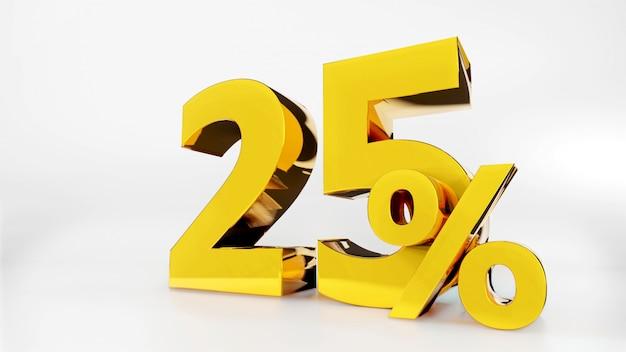 25% gouden symbool