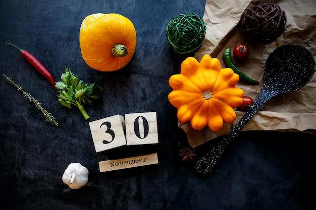 30 november concept van de laatste dag van de herfst dag voor de winter